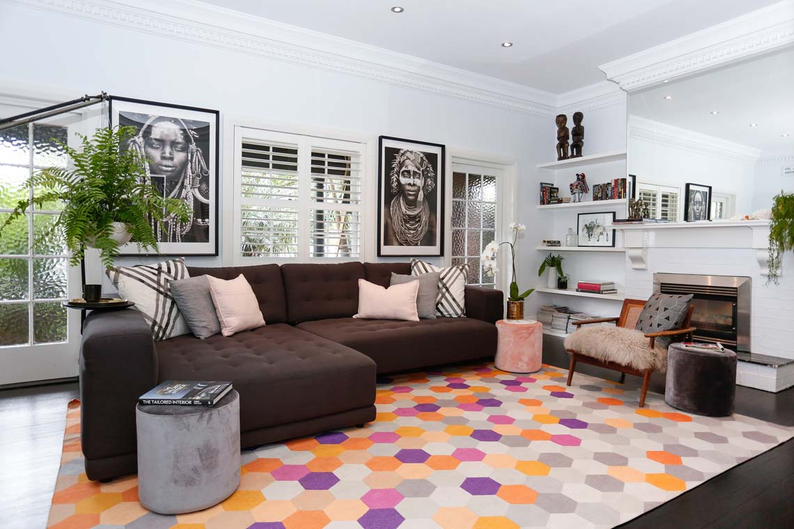Tribal Art Lounge Bondi Home