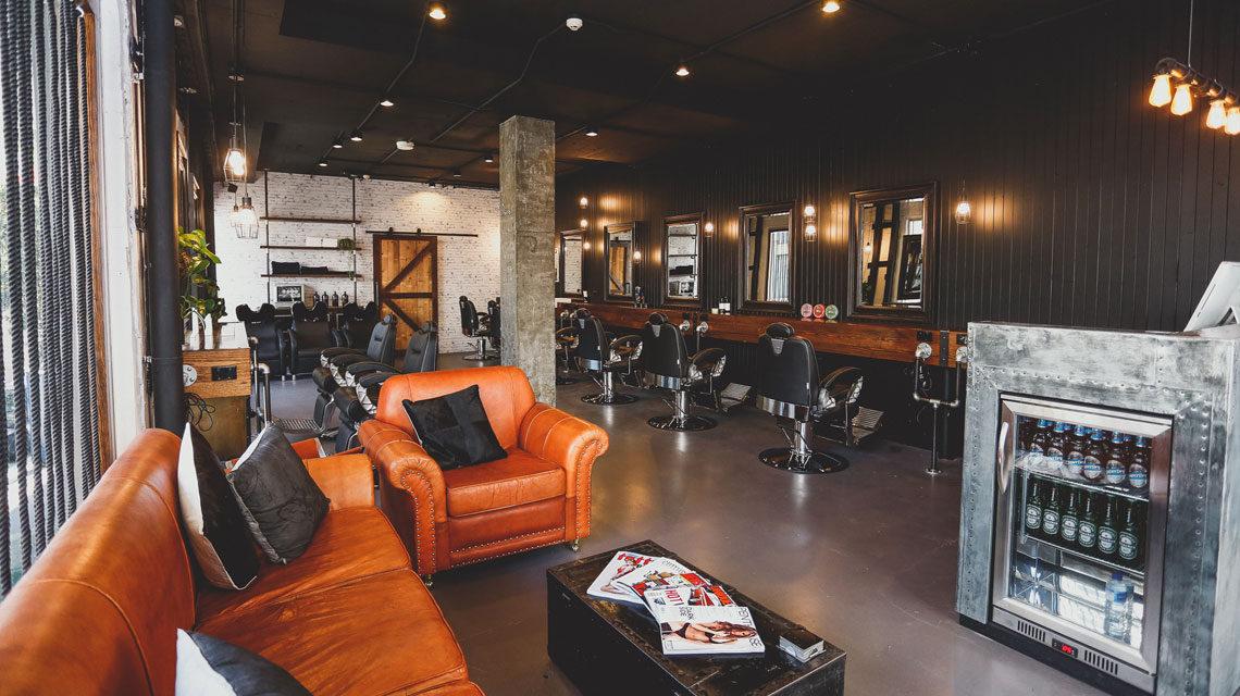 bondi-barbershop-interior-styling-soft-leather-lounges-kcreative-interiors