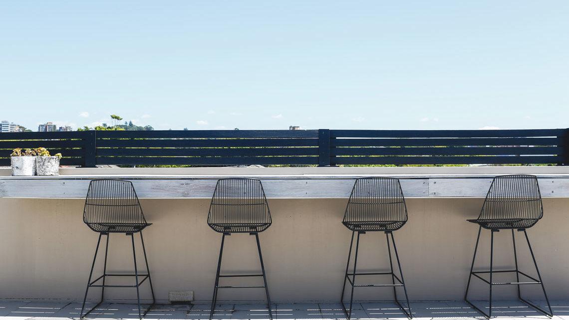 Bar stool overlooking Bondi beach