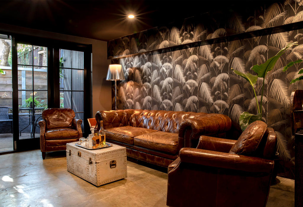 mister-chop-shop-barber-boys-club-chesterfield-tropical-wallpaper-cole-and-son-flos-ktribe-floor-lamp